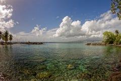 Взгляд к Фор-де-Франс от Ла Pointe du Поединка - Мартиникы стоковое фото rf