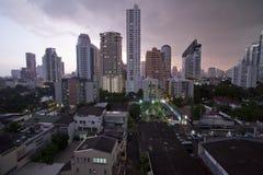 Взгляд ландшафта Бангкок, Таиланда Стоковая Фотография RF