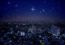 Взгляд ландшафта Бангкок, Таиланда Стоковые Изображения RF