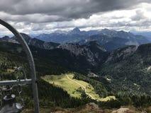 Взгляд ландшафта в Альп стоковая фотография