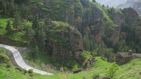 Взгляд ландшафта горной цепи в Georgia видеоматериал