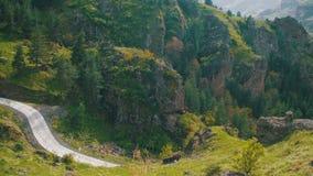 Взгляд ландшафта горной цепи в Georgia акции видеоматериалы