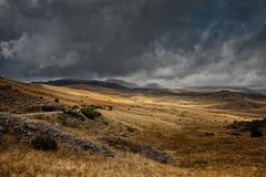 Взгляд ландшафта горы Bistra Стоковые Изображения RF