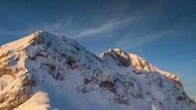 Взгляд ландшафта Мали Triglav и Triglav Стоковые Фото