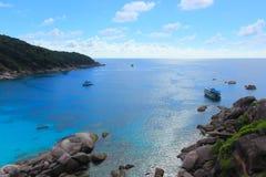 Взгляд ландшафта острова Similan стоковые изображения rf