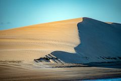 Взгляд ландшафта песчанных дюн пляжа Стоковая Фотография RF