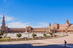 Взгляд ландшафта Площади de España стоковые фото
