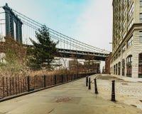 Взгляд ландшафта района DUMBO Нью-Йорка стоковые фотографии rf