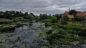 Взгляд ландшафта Река яркое и colourfull Стоковые Изображения RF