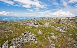 Взгляд ландшафта утесистых гор Стоковые Изображения RF