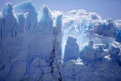 Взгляд ледника Perito Moreno от Brazo Rico в озере в Патагонии, Аргентине Argentino стоковые изображения