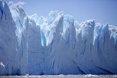 Взгляд ледника Perito Moreno от Brazo Rico в озере в Патагонии, Аргентине Argentino стоковая фотография rf