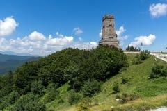 Взгляд лета памятника к свободе Shipka, зоне Stara Zagora, Болгарии стоковая фотография