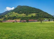 Взгляд летнего времени в швейцарском кантоне Schwyz Стоковые Фото