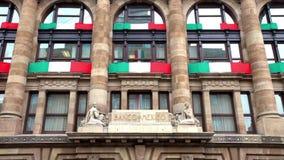 Взгляд логотипа центрального банка Мексики Оно задача ` s обеспечить стабильность и силу валюты сток-видео