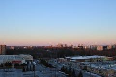 Взгляд Лондона Онтарио от 10th пола квартиры highrise стоковая фотография