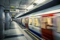 Взгляд Лондона подземный Стоковые Изображения