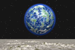 взгляд луны Стоковые Фото