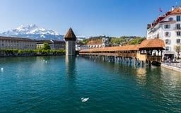 Взгляд Люцерна весной 2017 в Швейцарии Стоковые Фотографии RF