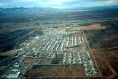 взгляд маленького города воздуха Стоковая Фотография