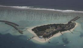 взгляд Мальдивов воздушного острова малый Стоковая Фотография RF