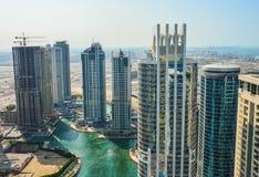 Взгляд Марины Дубай панорамный Стоковая Фотография