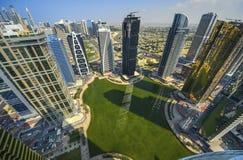 Взгляд Марины Дубай панорамный Стоковое фото RF