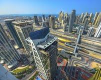 Взгляд Марины Дубай панорамный Стоковое Изображение