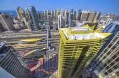 Взгляд Марины Дубай панорамный Стоковая Фотография RF