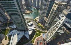 Взгляд Марины Дубай панорамный Стоковое Изображение RF