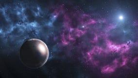 Взгляд Марса от космического пространства с миллионами звезд вокруг его Стоковые Фотографии RF