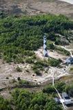 Взгляд маяка бдительности накидки от самолета стоковое фото rf