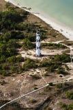 Взгляд маяка бдительности накидки от самолета стоковое изображение rf