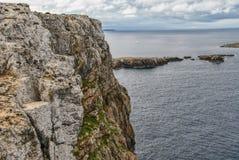 Взгляд маяка Cavalleria menorca Испания Балеарич Исланд Стоковое Фото