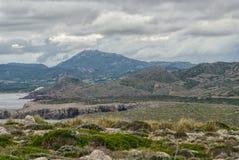 Взгляд маяка Cavalleria menorca Испания Балеарич Исланд Стоковые Изображения RF