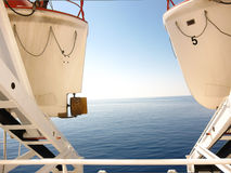 Взгляд между 2 lifeboats стоковая фотография rf