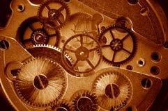 взгляд механизма шестерен старый Стоковая Фотография