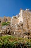 Взгляд мечети Aqsa Al от центра Davidson в старом городе Иерусалима, Израиля стоковые фотографии rf