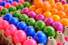 Взгляд много декоративных яичек Торжество пасхи Стоковое Фото