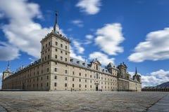Взгляд монастыря Escorial в зиме Стоковые Изображения RF
