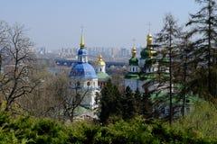 Взгляд монастыря Vydubitsky в Киеве Стоковые Изображения RF