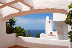 взгляд моря гостиницы здания роскошный Стоковое Изображение