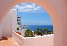 взгляд моря гостиницы здания роскошный Стоковые Изображения RF