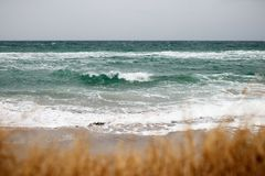 Взгляд моря и волн Стоковое Изображение RF