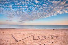 Взгляд моря и пляжа от блефов Стоковая Фотография RF