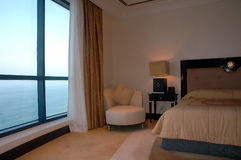 взгляд моря комнаты Стоковые Фотографии RF
