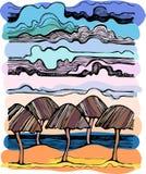 взгляд моря ландшафта облаков Стоковое Изображение