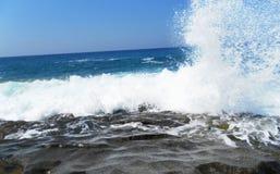Взгляд моря от берега Пляж Стоковые Фотографии RF