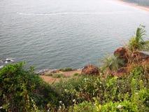 Взгляд моря от высоты горы Стоковые Фото