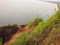 Взгляд моря от высоты горы Стоковая Фотография